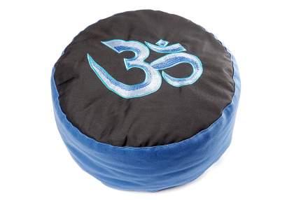 Подушка для йоги RamaYoga Этно Ом, синий