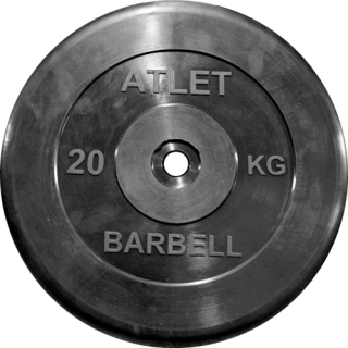 Диск для штанги MB Barbell Atlet 20 кг, 26 мм