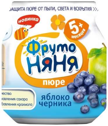 Пюре фруктовое ФрутоНяня Из яблок и черники с 5 мес 100 г