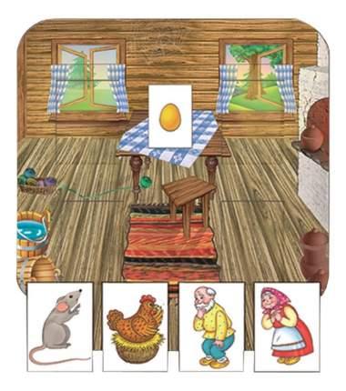 Семейная настольная игра Курочка Ряба с кармашками Радуга с-633