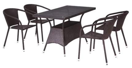 Набор дачной мебели Afina T198D/Y137C-W53 Brown 6Pcs