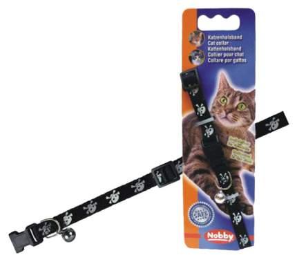 Ошейник для кошек Nobby Пират нейлон, черный, 20-30 см