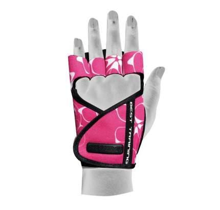 Перчатки для фитнеса Chiba Lady Motivation Glove, розовые/черные/белые, XS