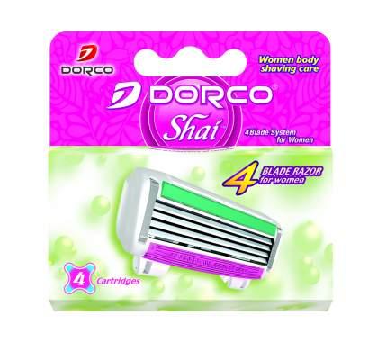 Сменное лезвие для станка Dorco Shai 4, 4шт