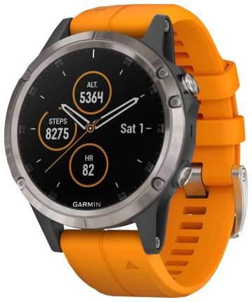 Смарт-часы Garmin Fenix 5 Plus Sapphire серые/оранжевые
