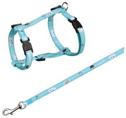 Шлейка с поводком для кошек TRIXIE Cat Harness обхват 27-45 см, в ассортименте