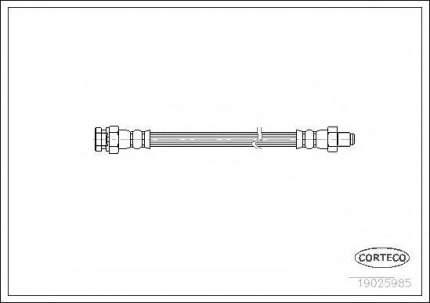 Шланг тормозной Corteco 19025985