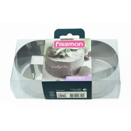 Набор из двух круглых кулинарных колец с прессом 7x4,5см FISSMAN  6709