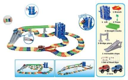 Автотрек Junfa Toys гибкий 240 деталей WB-A8868