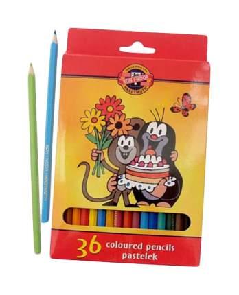 Карандаши цветные KOH-I-NOOR Крот 36 цветов