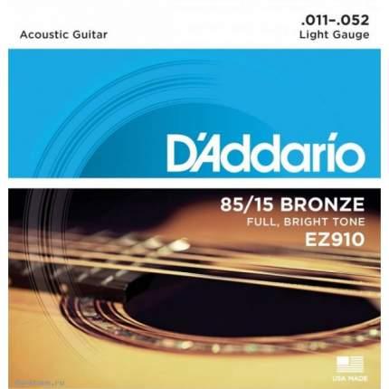 Струны для акустической гитары D ADDARIO EZ910