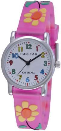 Детские наручные часы Тик-Так Н101-2 малиновые цветы
