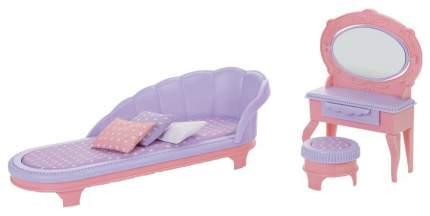 ОГОНЕК Набор мебели для кукол Будуар. Маленькая принцесса (розовый) C-1460