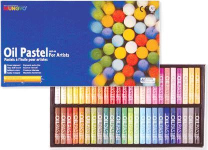 Набор пастели художественной масляной круглой MUNGYO Oil Pastels, 48 цветов