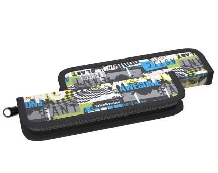Пластиковый пенал-книжка без наполнения ErichKrause® 55x205x25мм Track Car