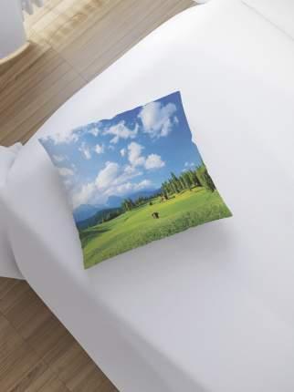 JoyArty Наволочка декоративная «Мечтательная поляна» на молнии, 45x45 см