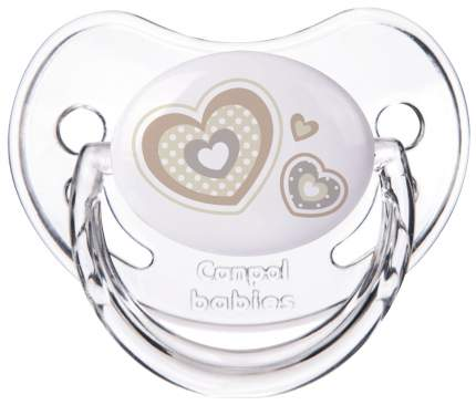 Пустышка Canpol Newborn baby симметричная силикон 6-18 мес. арт. 22/581 цвет белый