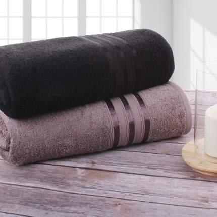 Полотенце банное Doome Гармоника Черный, Коричневый (70х130 см - 2 шт)
