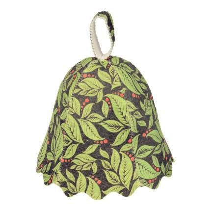 Шапка для бани и сауны Банные штучки Листья