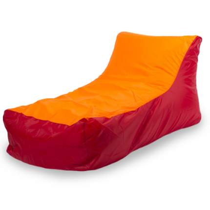 Кресло-мешок ПуффБери Кушетка Оксфорд, размер XXL, оксфорд, красный; оранжевый