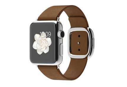 Apple Watch 38 мм, коричневый ремешок с современной пряжкой 160-180 мм