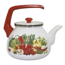 Чайник для плиты Interos Рататуй 3,0л эмалированный с кр.