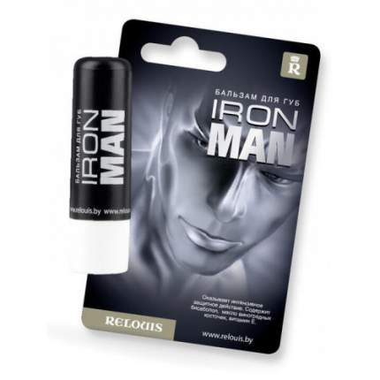 Бальзам для губ Relouis Iron Man для мужчин 4,4 мл
