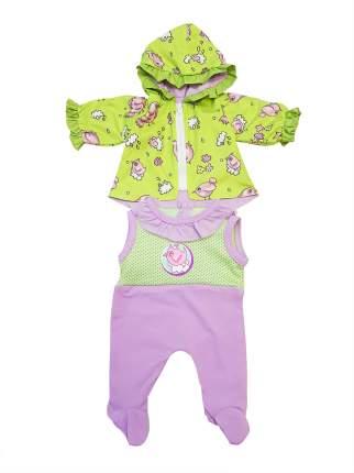 Курточка и полукомбинезон Весна для куклы Колибри 306 салатовый,розовый