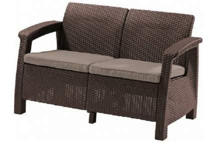 Садовый диван Keter Corfu II Love Seat 17197359B коричневый