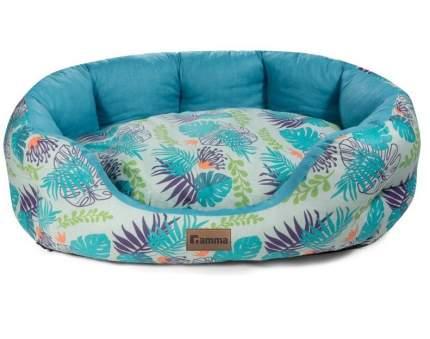 Лежак для животных Gamma Тропики, овальная, медиум, 60x48x20 см