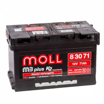 Аккумулятор MOLL M3plus 71R 620A 278x175x175 83071