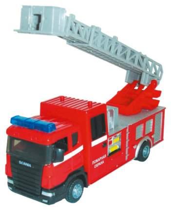 Коллекционная модель машины Autotime Scania Fire с лестницей 34203
