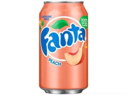 Напиток Fanta peach жестяная банка 0.36 л