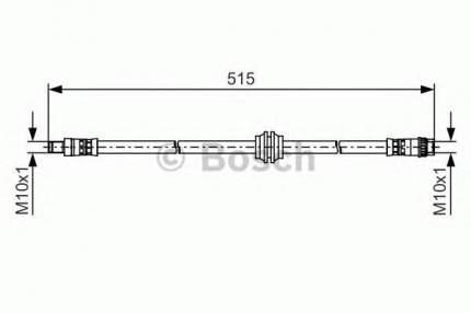 Шланг тормозной Bosch 1987481480