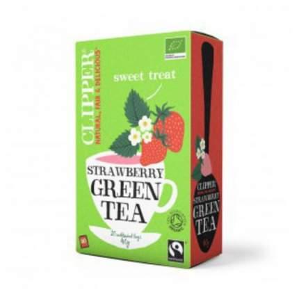 Чай зеленый Clipper с клубникой органик 20 пакетиков