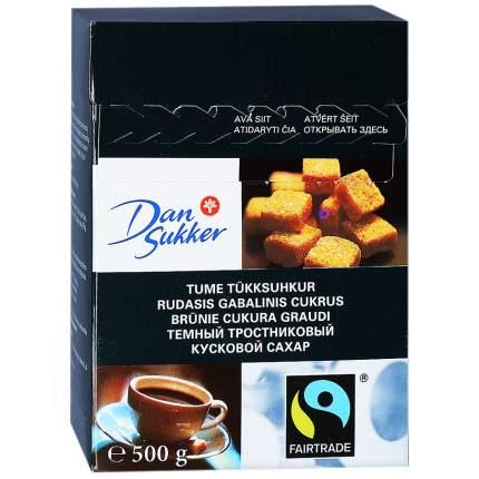 Сахар Dan Sukker темный тростниковый кусковой 500 г