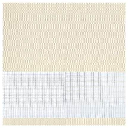 Рулонная штора Эскар День-Ночь 170х68 цвет молочный
