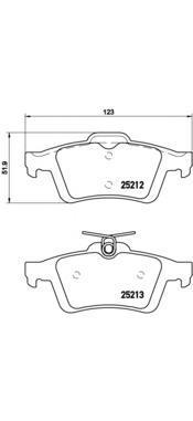 Комплект тормозных колодок Brembo P24148