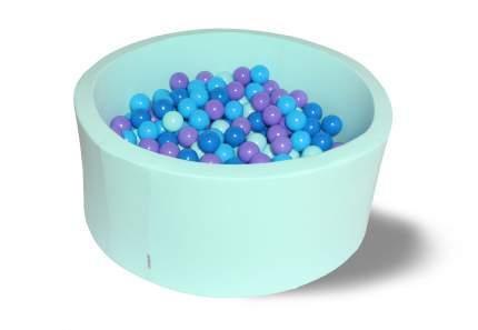 Сухой игровой бассейн Морские глубины 40см с 200 шарами:мятный, синий, голубой, фиолетовый