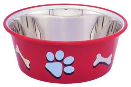 Одинарная миска для кошек и собак Nobby, металл, резина, красный, 0.4 л