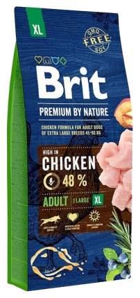 Сухой корм для собак Brit Premium By Nature Adult XL, гигантских пород, курица, 18кг
