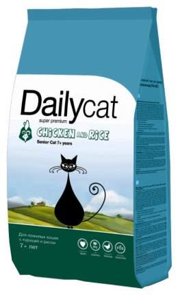 Сухой корм для кошек Dailycat Senior, для пожилых, курица с рисом, 0,4кг