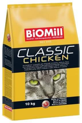 Сухой корм для кошек и котят BIOMILL Classic, курица, 10кг