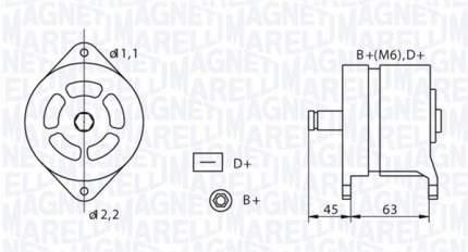 Генератор Magneti Marelli 063320070010