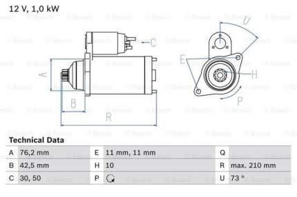Стартер Bosch 0 986 022 290