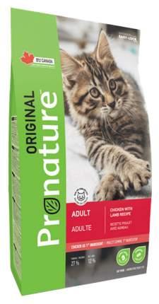 Сухой корм для кошек Pronature Original, курица, ягненок, 20кг