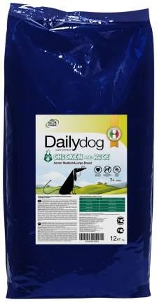 Сухой корм для собак Dailydog Senior Medium Large Breed, для пожилых, курица и рис, 12кг