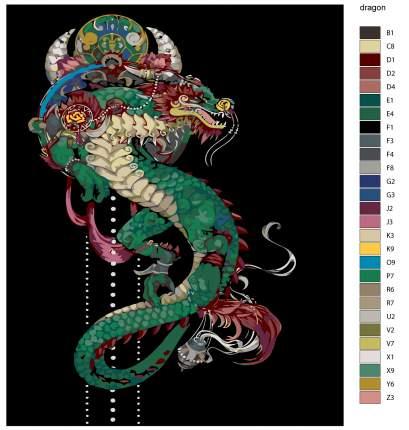 Картина по номерам, 40 x 50, NA-dragon