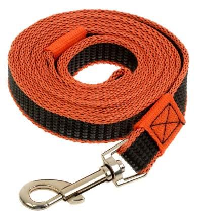 Поводок для собак Зооник капроновый с латексной нитью 2м* 20мм Оранжевый