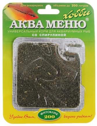 Корм для рыб Аква Меню Фитоклик-200, гранулы, 6,5 г